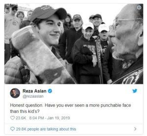 emotional triggers, punchable face, Reza Aslan
